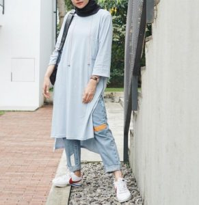 Casual Tunic hijab outfit