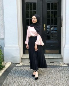 Hijab outfit skirt