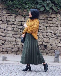 Hijab pleated skirt