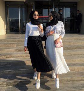 Hijab with skirt