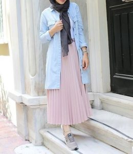 Pleated Skirt For Hijab