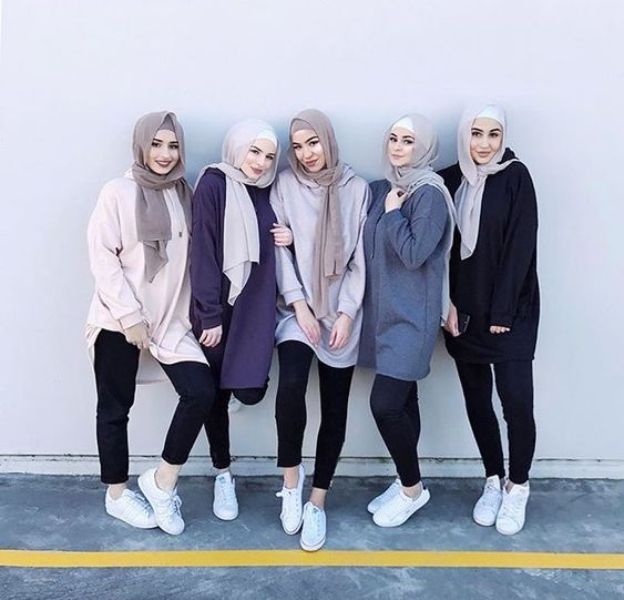 Sneakers With Hijab Outfit
