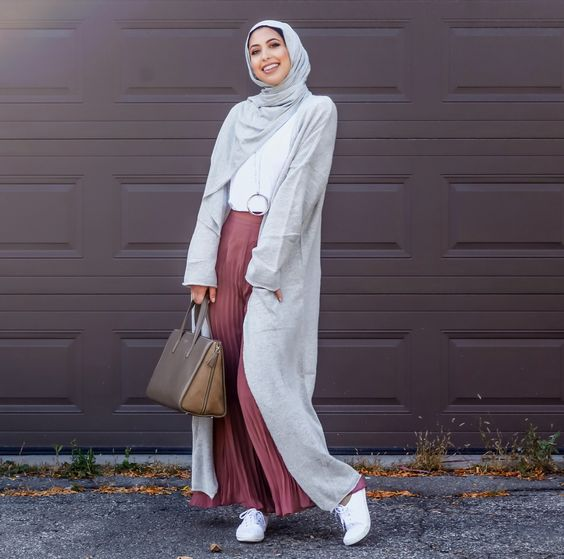Style Pleated Skirt For Hijab