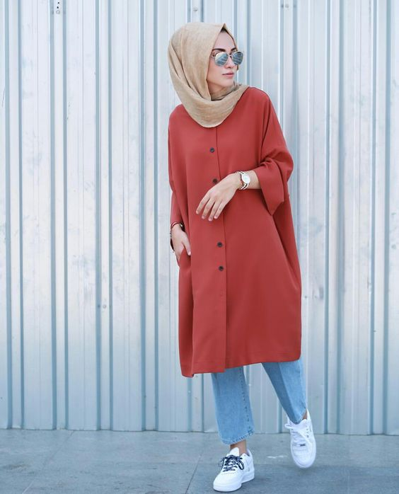 Tunic colorblock