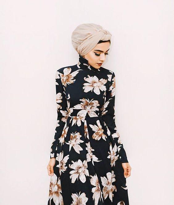 Turban hijab outfit