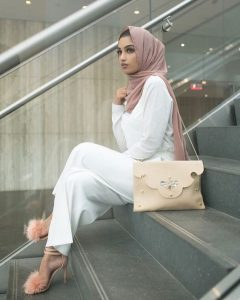 What to Wear Hijab in Nude Scarf