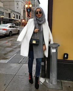 Winter Hijab Outfit via Summer Albarcha