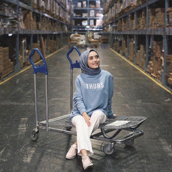 casual hijab trend