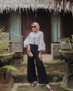 hijab fashion nude with pants