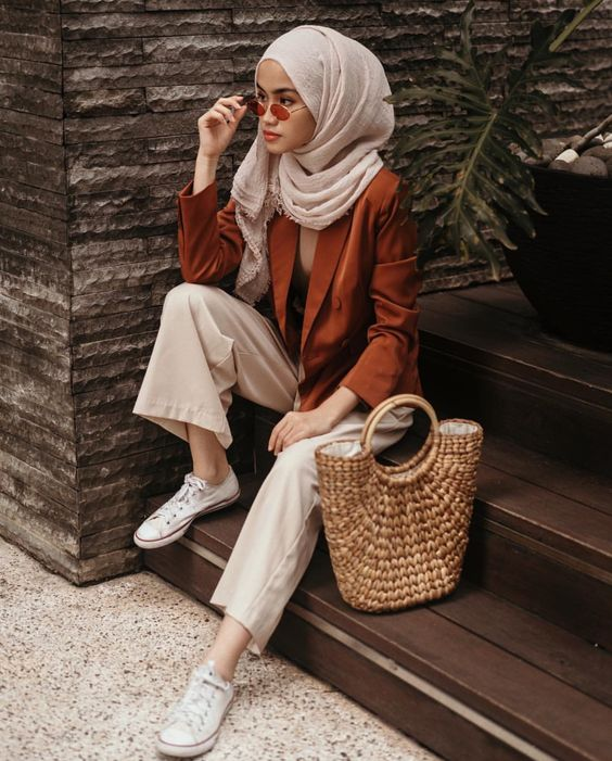 hijab fashion nude