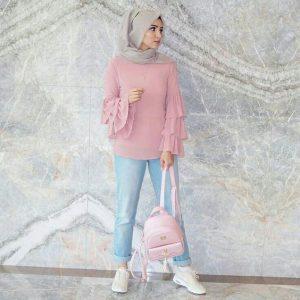 hijab in pastel