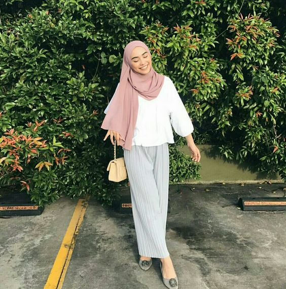 hijab outfit pastel