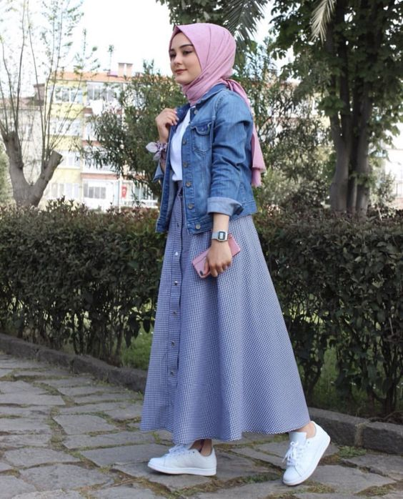 hijab skirt outfit