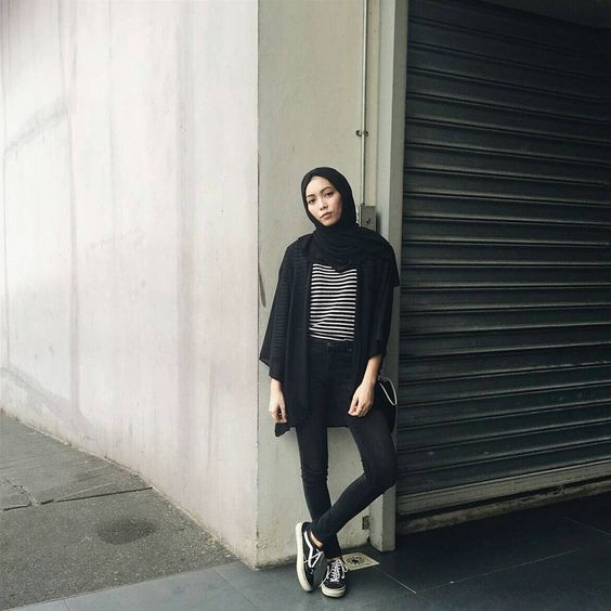 hijab with sneakers