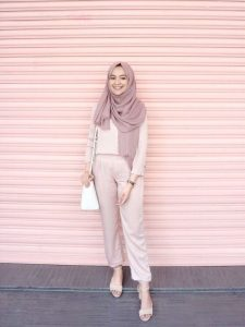 Trend Color: Pastel Hijab Outfit Ideas