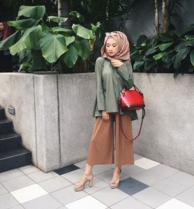 nude hijab color outfit