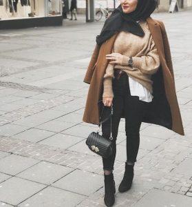 Camel Coats hijab