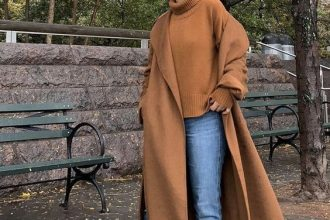 Chic Ways to Style Camel Coat With Hijab Outfit