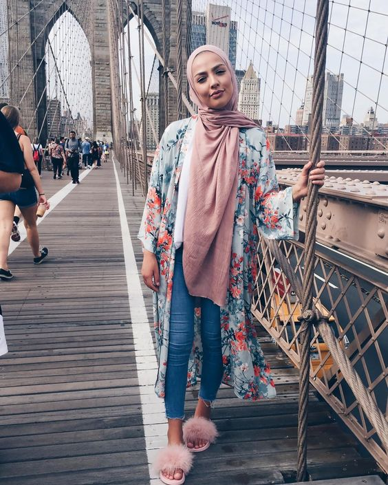 Floral Outer For Hijab