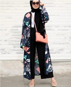Floral Outer Hijab