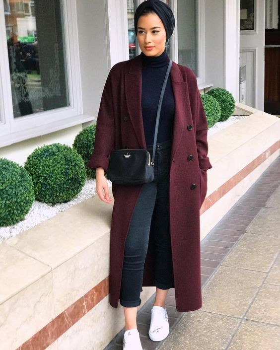 Hijab Style With Coat