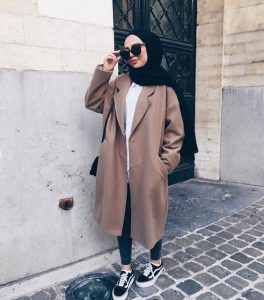 Hijab Style With RainCoat