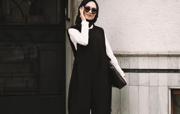 Stylish Hijab Work Wear Outfit Ideas via @Pelin_sarkaya