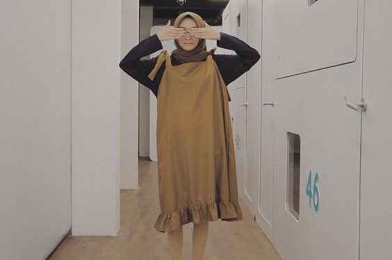 Trendy hijab look