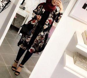 floral kimono for hijab