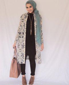floral kimono for hijab style