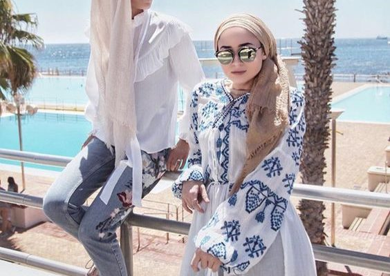 hijab beach outfit for hijab women