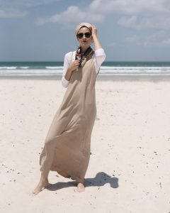 hijab beach outfit style