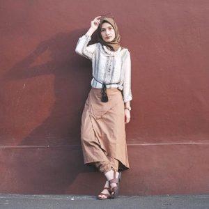 hijab look via dwihandaanda