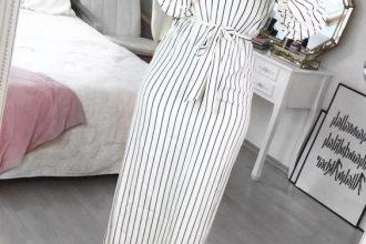 Striped Dress For Hijab