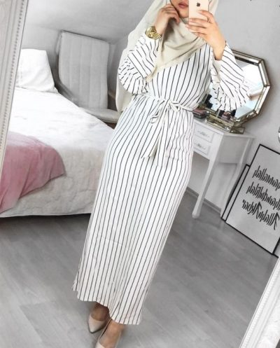 Striped Dress For Hijab