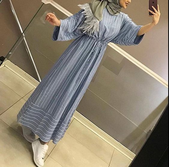 hijab stripe dress