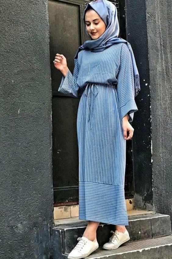 hijab stripe outfit