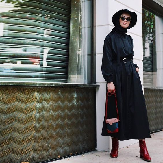 Ankle Boots hijab looks