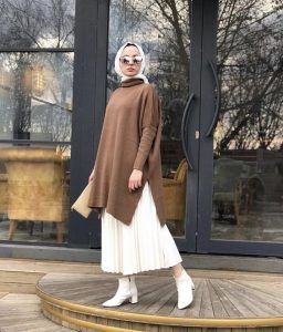 Ankle boots hijab outfit