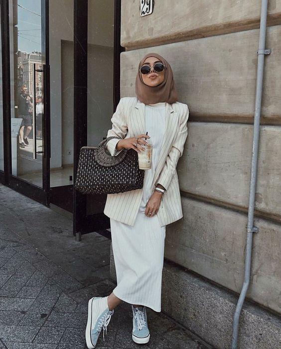 Chic Hijab Style Ideas With Blazer