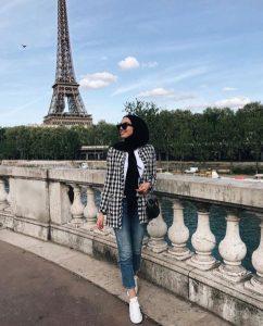 Hijab + Houndstooth