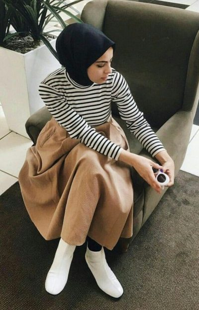 Hijab Looks Ankle Boots