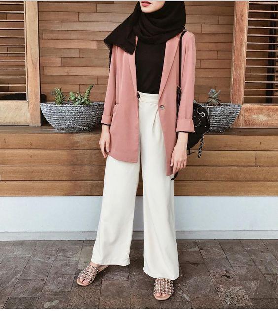 Hijab Style With Blazer