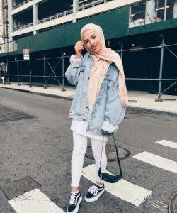 Hijab Style with denim