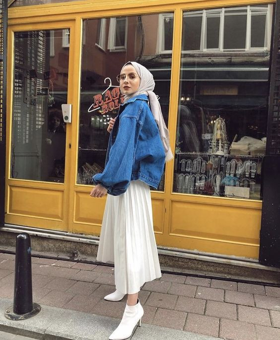Hijab Styling Ideas With Denim Jacket