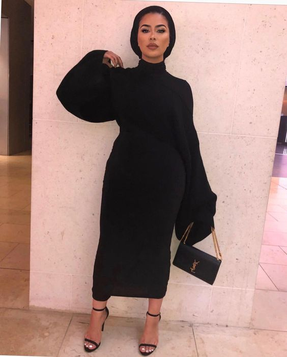 What To Wear Hijab Outfit In Black