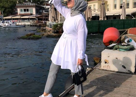 White Blouse For Hijab