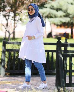White Blouse Hijab