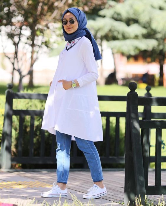 White Blouse Hijab