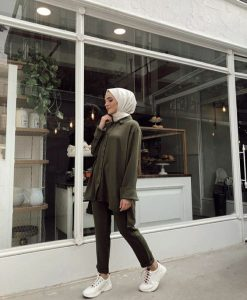 White Hijab Scarf